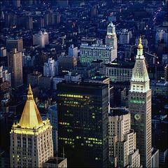 NYC - blue hour - 1986