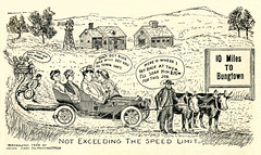 Not Exceeding the Speed Limit in 1908