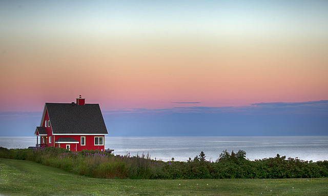 Dream House after the sunset