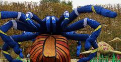 Halloween . Quand j'ai vu cette araignée géante , j'ai fait dans mon string . je vous laisse imaginer le résultat .