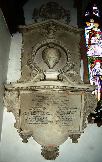 Leman Memorial, Saint Peter's Church, Wenhaston, Suffolk