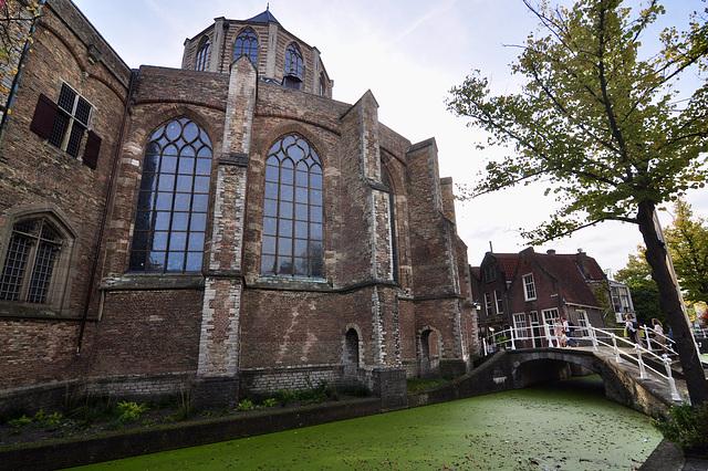 Delft 2019 – View of the Nieuwe Kerk from the Vrouwenregt