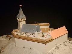 Model Nového hrádku u Kunratic - Modelo de la Nova burgeto ĉe Kunratice  (nuna parto de Prago)