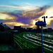 Weather station and sunset