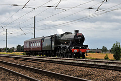 Locomotive 45596 'Bahamas' on its way to Nene Valley Railway where it will be in action for the next few weeks.