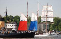 Rot&Blau auf der Elbe - Red&Blue