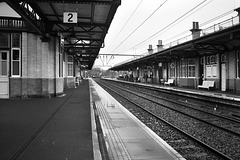 Airdrie Train approaching Platform 1, Dumbarton Central Station