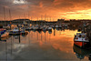 Calm sunset, Scarborough Harbour, North Yorkshire