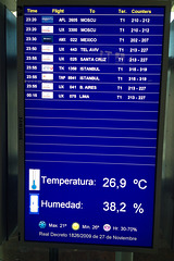 Flying from Madrid to Lima