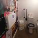 Toilet with art