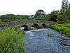 Dartmoor, Rundbogenbrücke gegenüber der Clapper Bridge