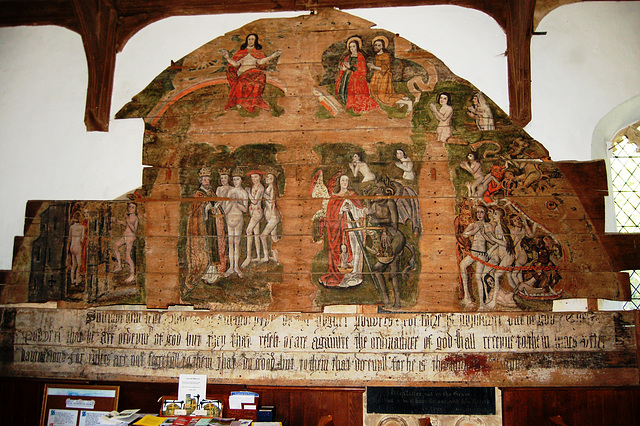 Wenhaston Doom Painting c1490-1500, Saint Peter's Church, Wenhaston, Suffolk