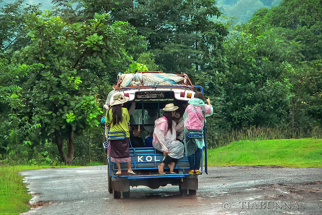 "Lao tourist ""bus"""