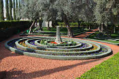 Haifa, The Flower Bed in Bahá'í Gardens