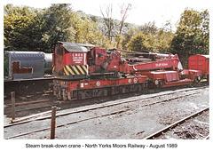 Steam brakedown crane Grosmont NYMR 8 1989