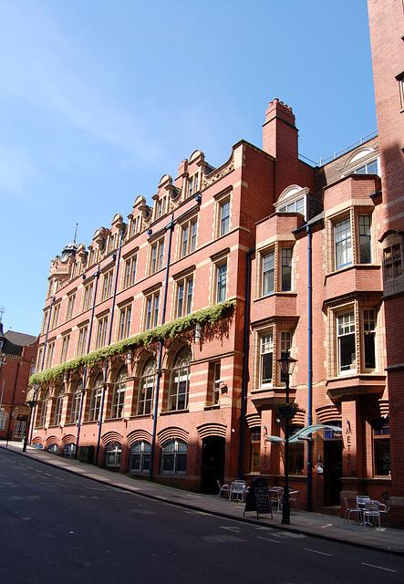 Cornwall Buildings, from Cornwall Street, Birmingham