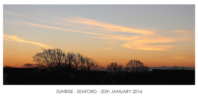 Yet another Seaford sunrise - panoramic this time - 20.1.2016