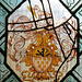 rousham church, oxon ; dormer heraldry in c17 glass