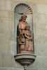 Wooden statue in Saint Malo Cathedral