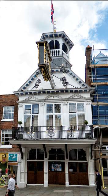 The Grade 1 listed historic Guildford Guildhall.