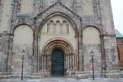 Denmark, Main Door of the Ribe Cathedral