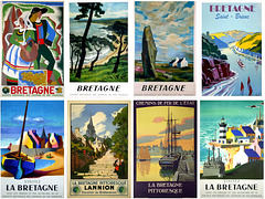 Some Bretagne French State Railway (SNCF) Posters Affiches