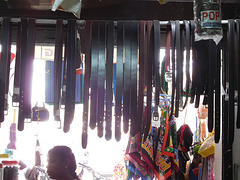 Belts in a shop