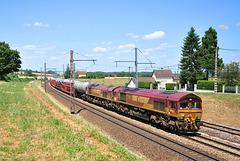 Doublette de Class 66 en Bourgogne
