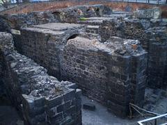 Roman amphitheatre ruins.
