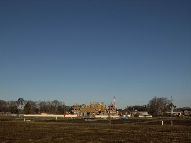 Golden temple under the blue sky