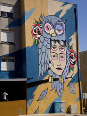 The 6 eyes mural, by Miguel Brum.
