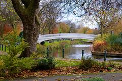 Autumn colours in Victoria Park, Stafford