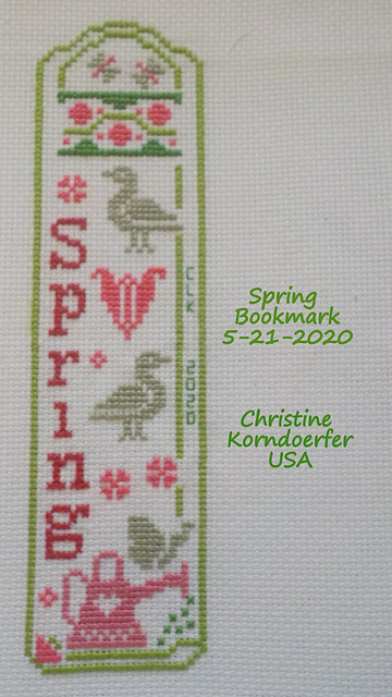 Spring Bookmark - COMPLETED -  5-21-2020