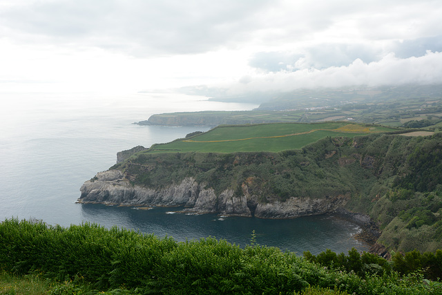 Azores, North Coast of the Island of San Miguel from the Santa Iria Overview Point