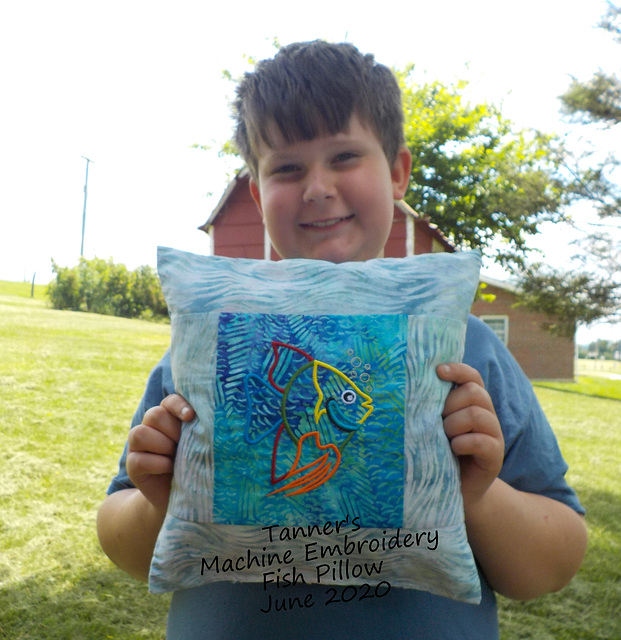 Tanner's Fish Pillow - June 2020