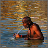 """Morning ablutions"" - Ganges River - Varanasi - INDIA"