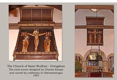 Ovingdean, Saint Wulfran - The rood screen -  2.1.2019
