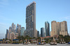 U.A.E., Dubai, JBR Beach and Skyscrapers