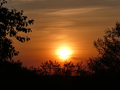 Sonnenuntergang am 19.09.2018