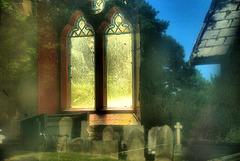 Looking In, Reflecting Out. Derelict Chapel. Wallsend Cemetery