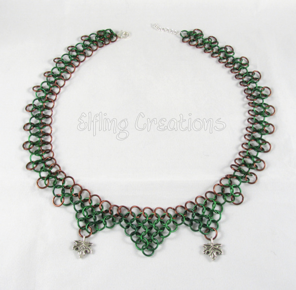 Custom Leaf Chainmaille Necklace
