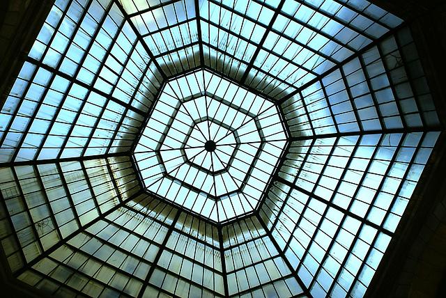 "Blue cobweb ... in the ""Corso Gallery"", Milan"