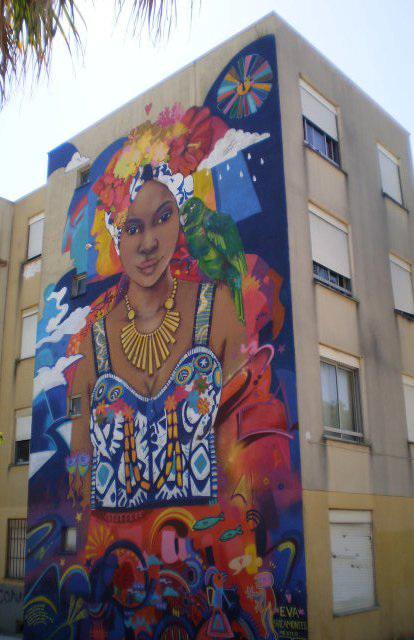 Afro-mexican woman, by Eva Bracamontes (Mexico).