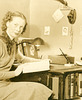 Sargent Student Studying, ca. 1930s (Cropped)
