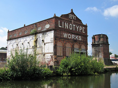 Linotype Works, main building, Altrincham, Greater Manchester.