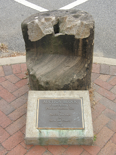 Slave Auction Block