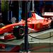AbuDhabi : una delle tante Ferrari nel museo tutto rosso !