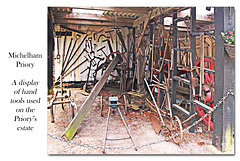 Estate hand tools & machines at Michelham Priory - 15.6.2016