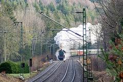 Auf der Tharandter Rampe Richtung Freiberg