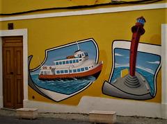 Mural paintings.